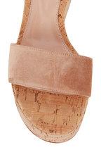 Gianvito Rossi - Sahara Suede Cork Flatform Sandal, 75mm