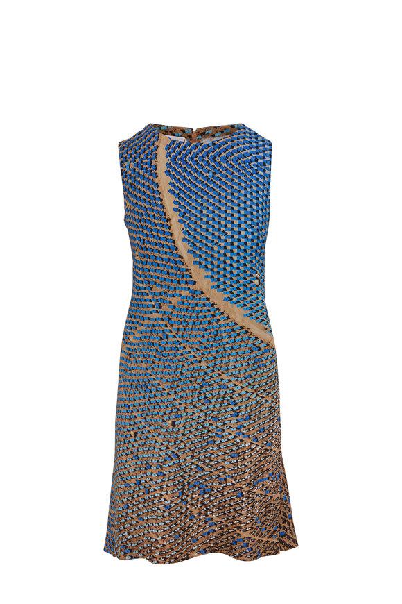 Akris Punto Sand & Lake Solar Print Sleeveless Dress
