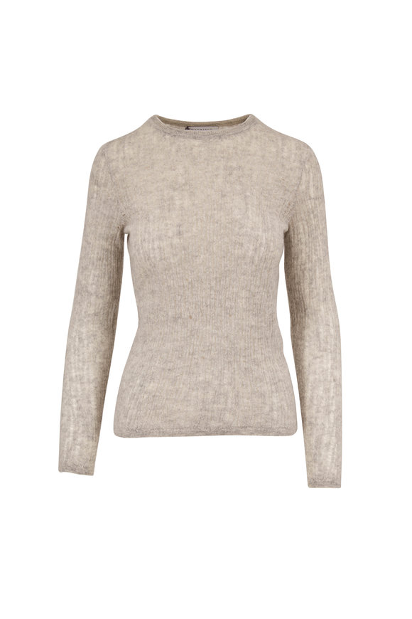 Gabriela Hearst Carey Heather Gray Cashmere & Silk Sweater