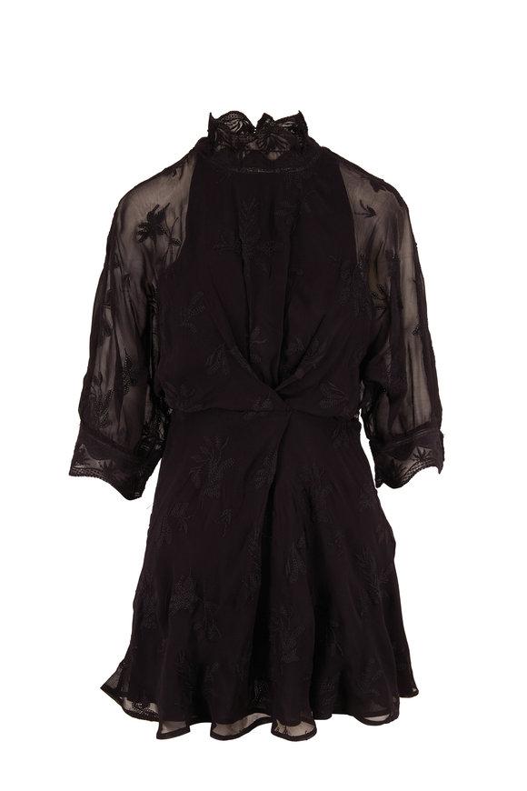 IRO Lenie Black Three-Quarter Sleeve Dress