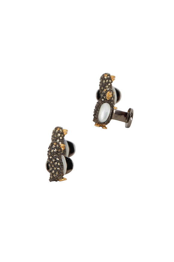 Jan Leslie Marcasite Penguin Stud Set
