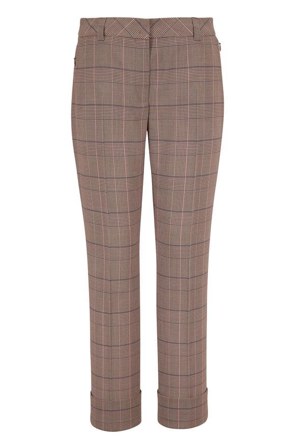 Akris Maxima Multicolor Wool Plaid Pant