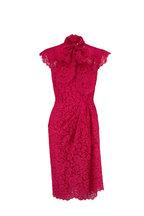 Dolce & Gabbana - Shocking Rose Lace Cap Sleeve Dress