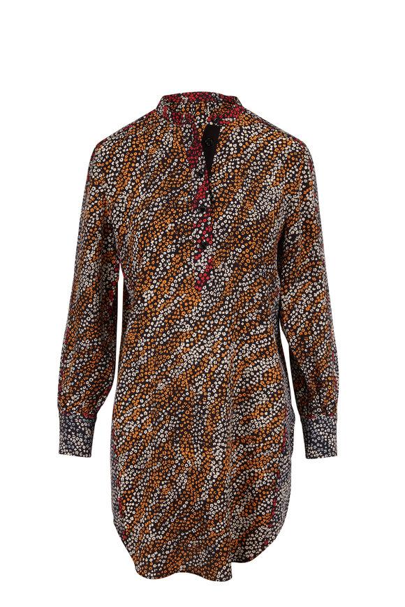 Rag & Bone Black Multicolor Colette Shirtdress