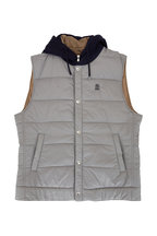 Brunello Cucinelli - Grey Padded Hooded Vest