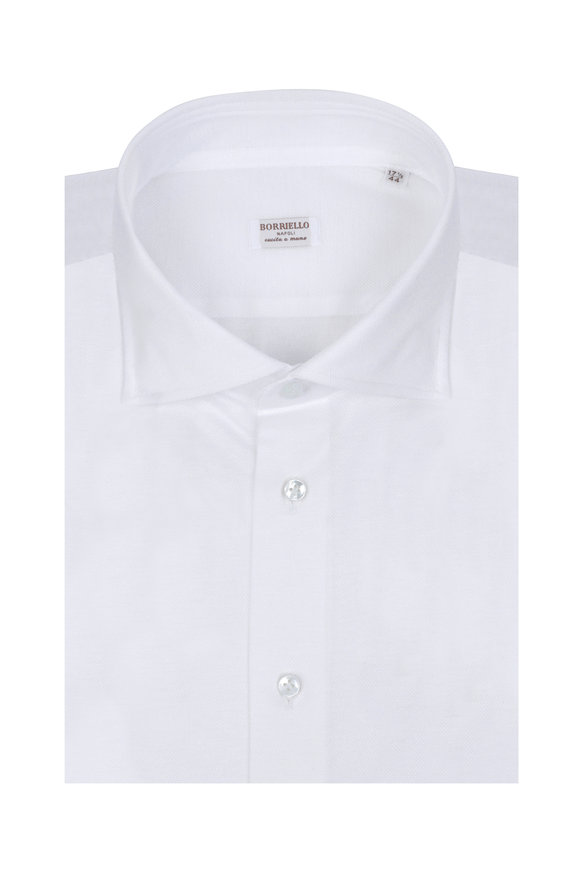 Borriello White Jersey Dress Shirt