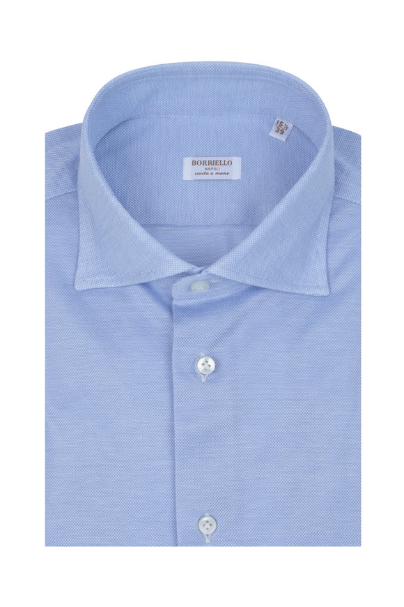 Borriello Light Blue Jersey Dress Shirt