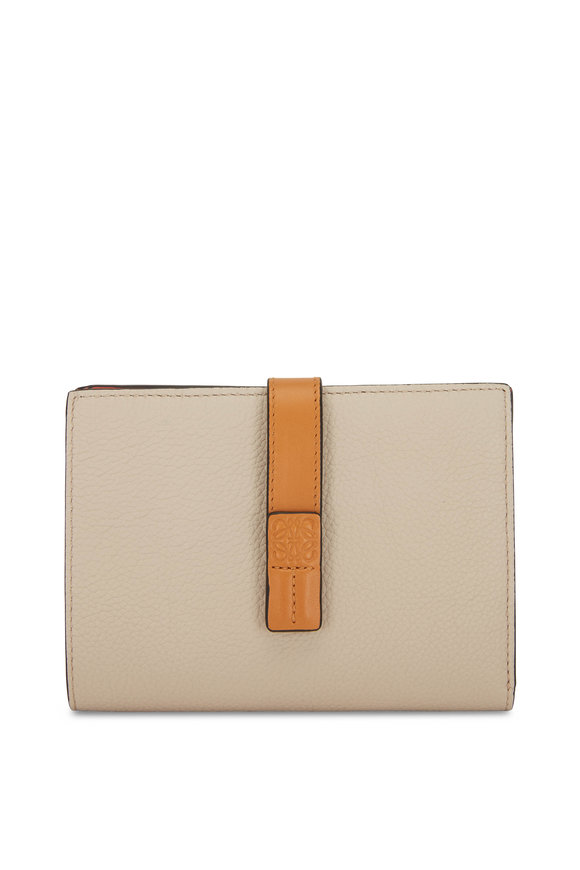 Loewe Vertical Oat & Tan Medium Wallet