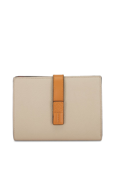 Loewe - Vertical Oat & Tan Medium Wallet