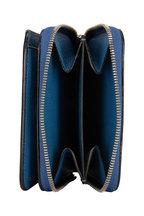 Valextra - Cobalt Blue Saffiano Double Small Wallet