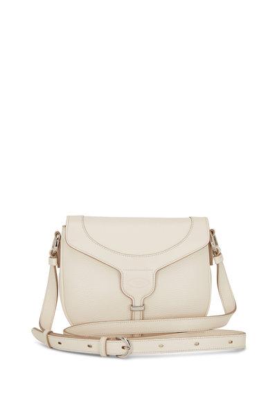 Tod's - Joy White Leather Crossbody Bag