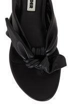 Jil Sander - Black Leather Bow-Tie Flat Sandal