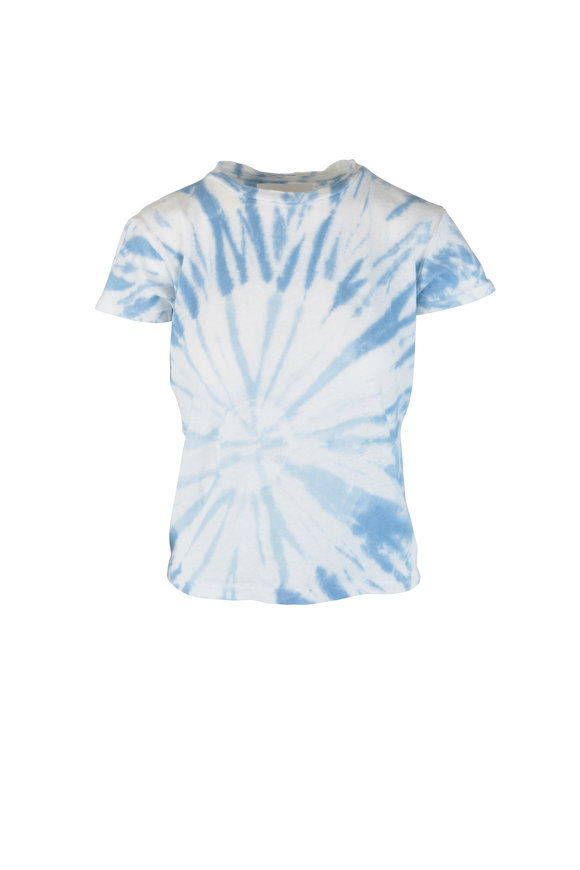 Mother Denim The Sinful Blue & White Tie Dye T-Shirt