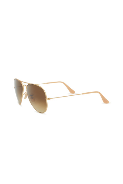 Ray Ban - RB3025 Gold & Brown Large Aviator Sunglasses
