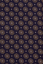 Eton - Eggplant & Gold Tile Print Silk Necktie