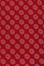 Eton - Red & White Tile Print Silk Necktie