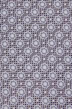 Eton - Silver & White Tile Print Silk Necktie