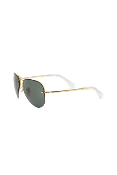 Ray Ban - RB3449 Gold Frame & Green Lens Aviator Sunglasses