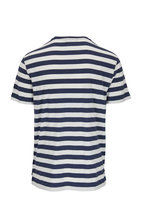 Ralph Lauren - Blue & White Striped Crewneck T-Shirt