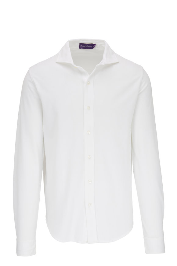 Ralph Lauren White Piqué Sport Shirt