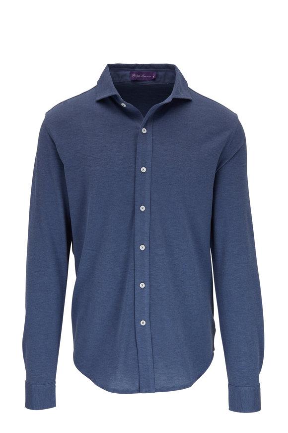 Ralph Lauren Blue Piqué Sport Shirt