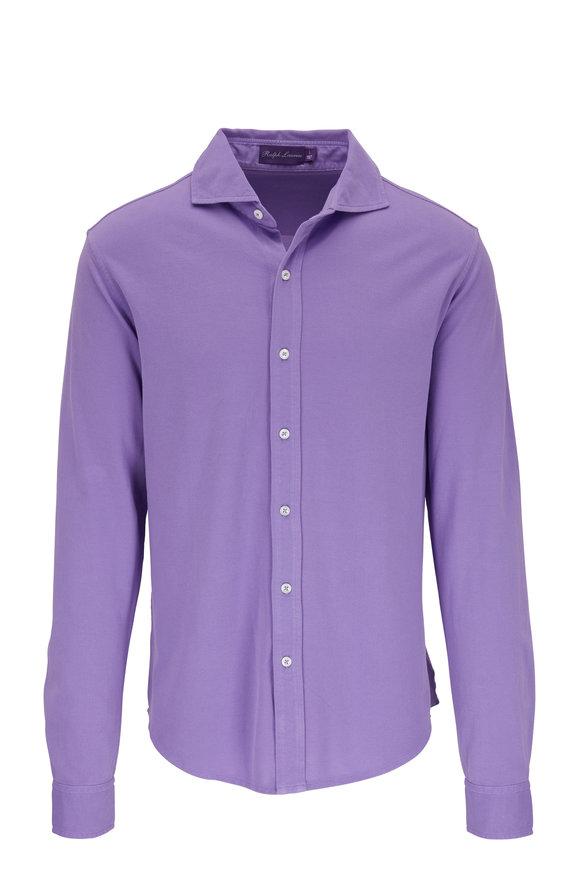 Ralph Lauren Lavender Piqué Sport Shirt