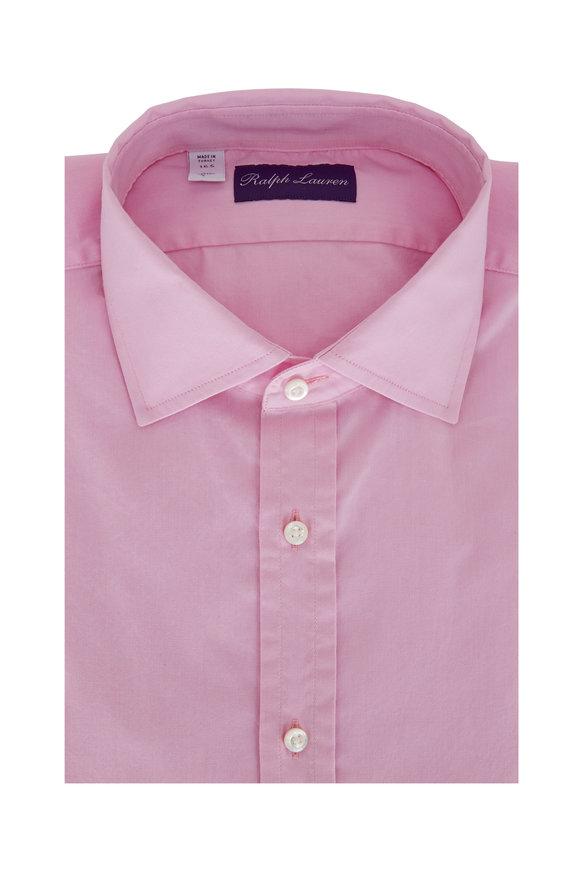 Ralph Lauren Solid Pink Oxford Sport Shirt