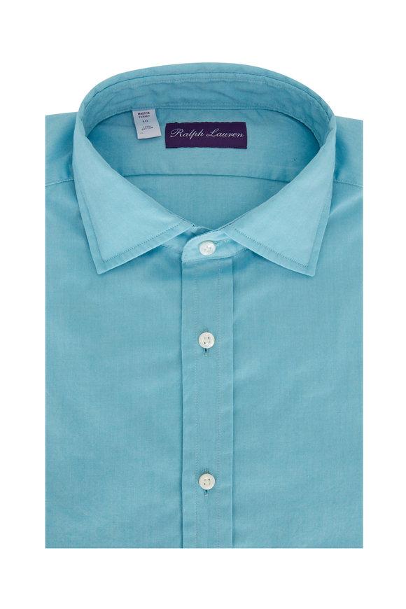 Ralph Lauren Solid Blue Oxford Sport Shirt