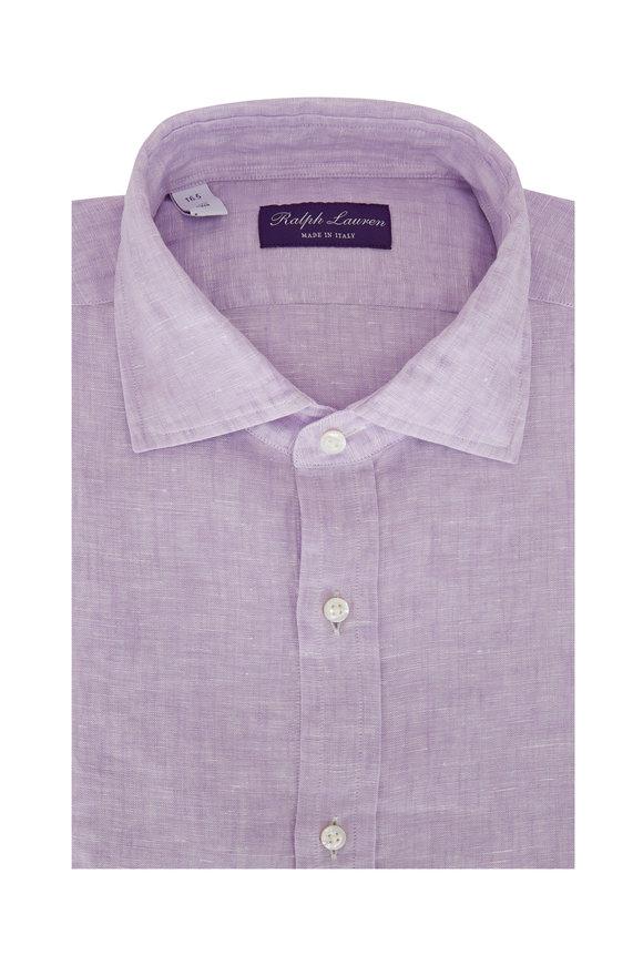 Ralph Lauren Solid Lilac Linen Sport Shirt