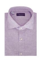 Ralph Lauren - Solid Lilac Linen Sport Shirt