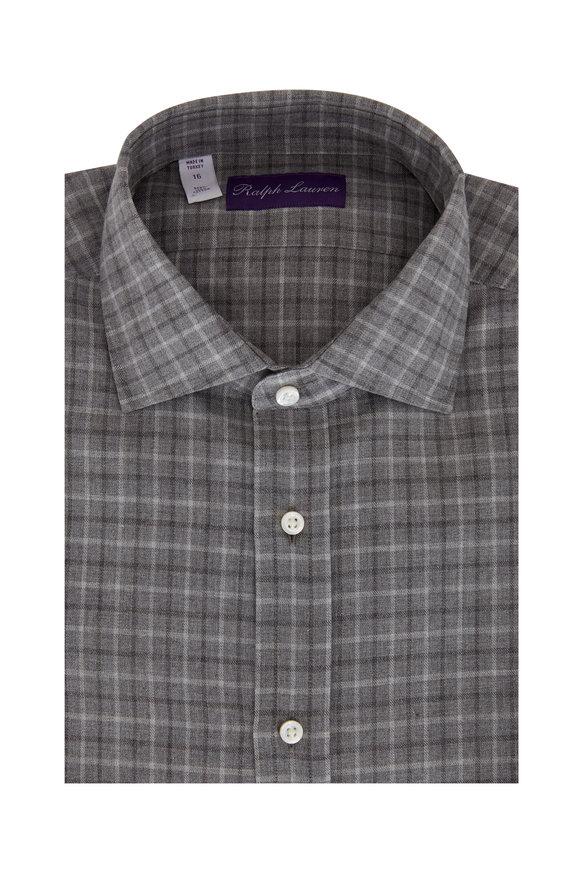 Ralph Lauren Light Gray Plaid Sport Shirt