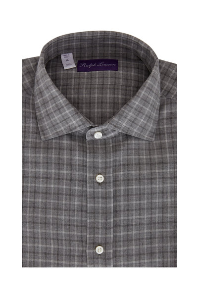 Ralph Lauren - Light Gray Plaid Sport Shirt