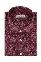 Etro - Burgundy Paisley Sport Shirt
