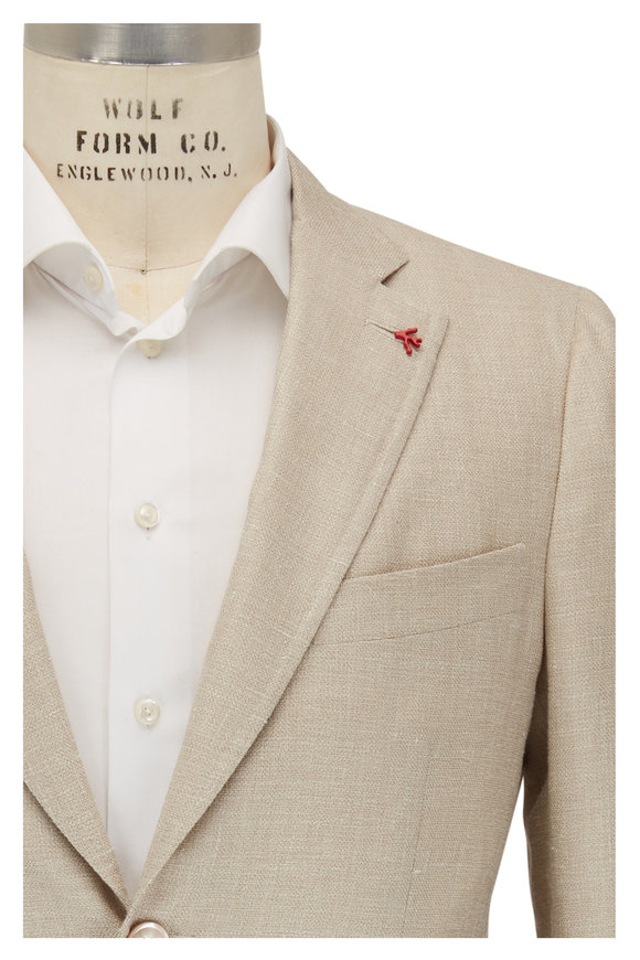 Isaia Light Tan Wool Blend Sportcoat