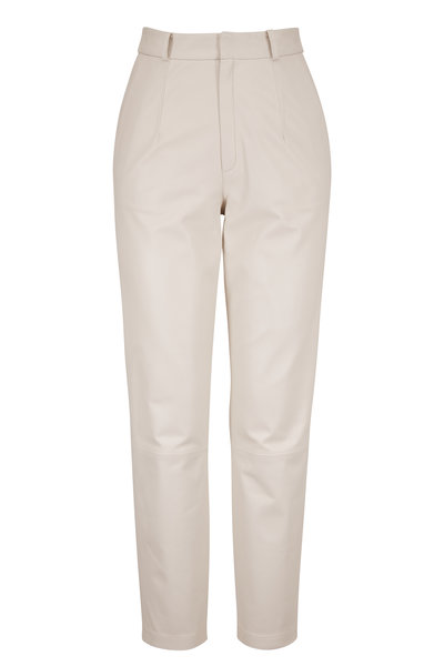 Zeynep Arcay - Mom White Leather Pant