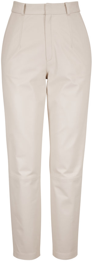 Zeynep Arcay Mom White Leather Pant