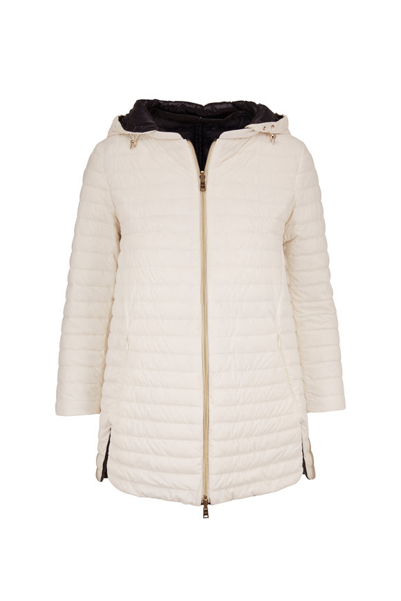 Herno Black & White Reversible Quilted Puffer Coat