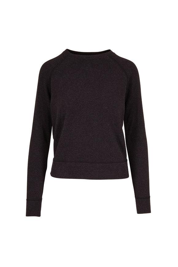 Vince Heather Charcoal Raglan Sleeve Sweatshirt