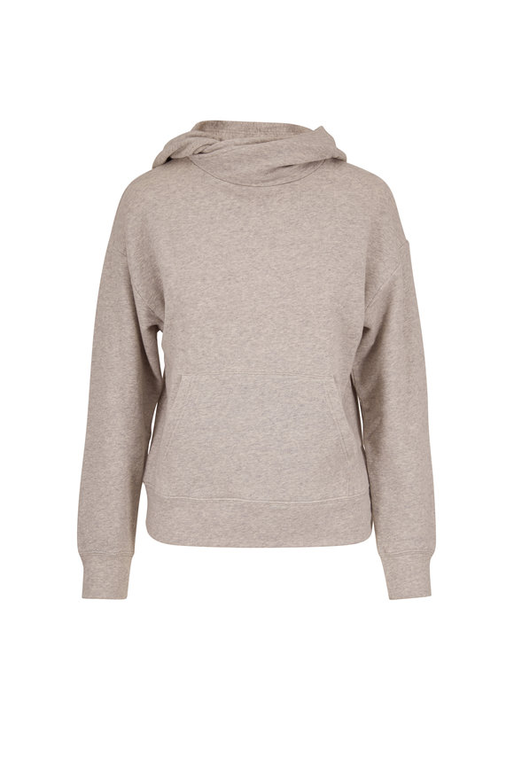 Vince Heather Gray French Terry Crossover Hoodie