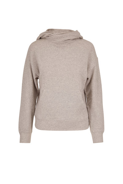 Vince - Heather Gray French Terry Crossover Hoodie