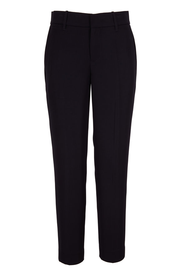 Vince Black Crepe Tapered Pant