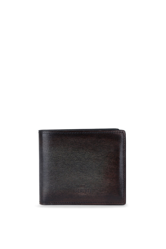 Berluti Makore Dark Brown Leather Bi-Fold Wallet