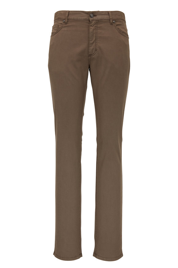 Ermenegildo Zegna Tan Five Pocket Jean