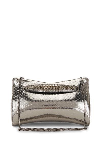Jimmy Choo - Venus Silver Python Crystal Bracelet Clutch