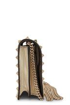 Valentino Garavani - Rockstud Sahara Metallic Leather Pouch Crossbody