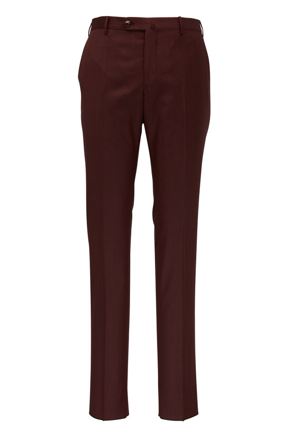 PT Torino Bordeaux Wool Slim Fit Pant