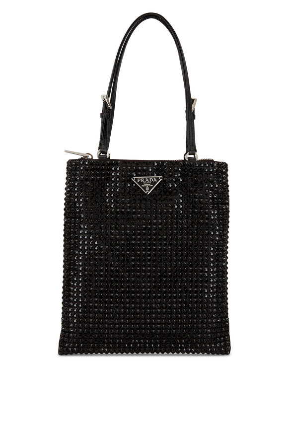 Prada Argento Black Crystal Small Bag