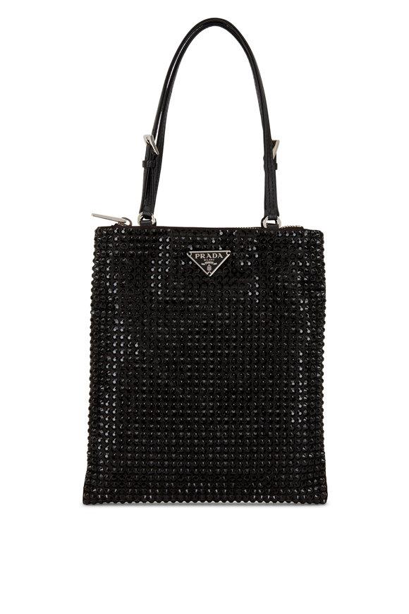 Prada Argento Black Crystal Small Bag
