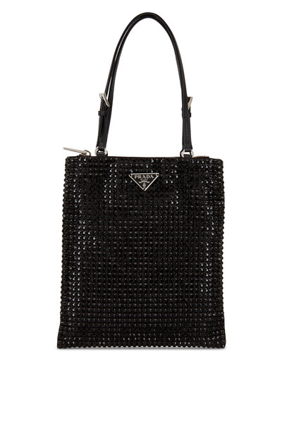 Prada - Argento Black Crystal Small Bag