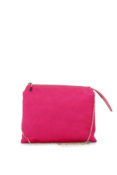 The Row -  Mini Nu Twin Fuchsia Satin Crêpe Bag